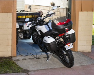 Zero Motorcycles electric police motorcycle charging
