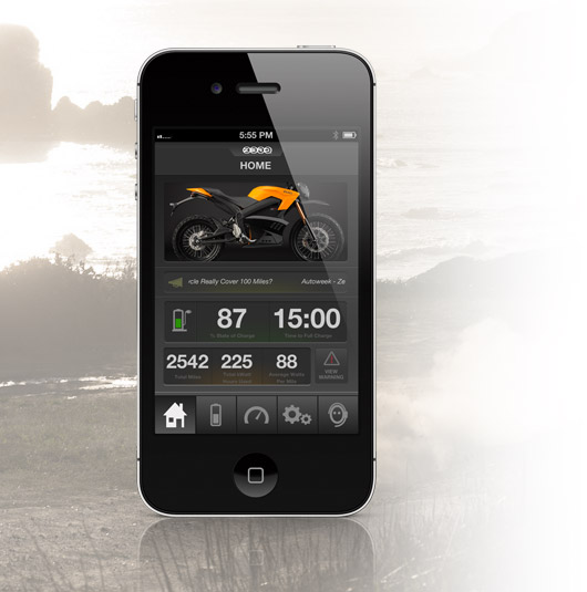 Zero DS Electric Motorcycle App