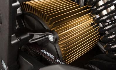 Motor de la motocicleta eléctrica Zero DS