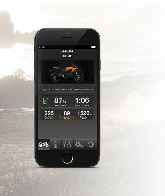 Zero DS Electric Motorcycle App