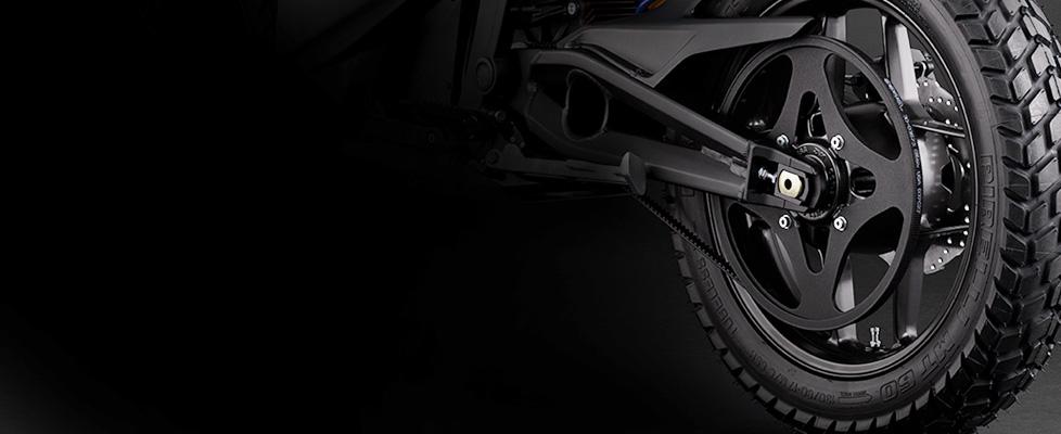 Aandrijving elektrische Zero DS motorfiets