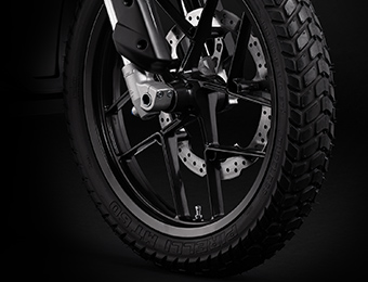 Las ruedas de la motocicleta eléctrica Zero DS