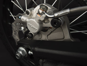 Zero FX Electric Motorcycle brakes