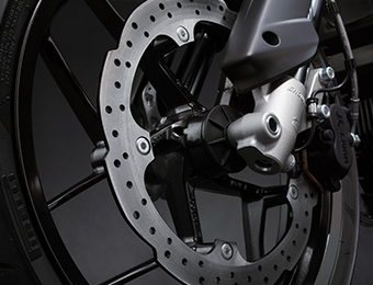 Zero FXS Electric Motorcycle brakes