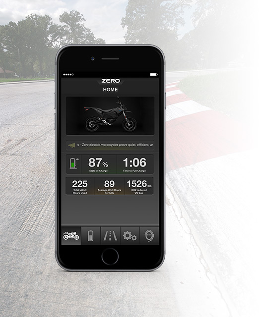 Zero FXS Electric Motorcycle App