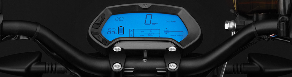 Zero FXS Electric Motorcycle Dashboard