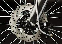 Die Vorderbremsen des Elektromotorrads Zero MX