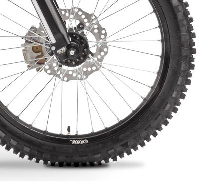 Les roues et les freins de la Zero MX