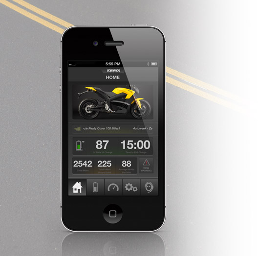 Zero S Electric Motorcycle App