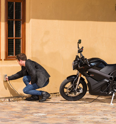 Zero S Electric Motorcycle Charging System