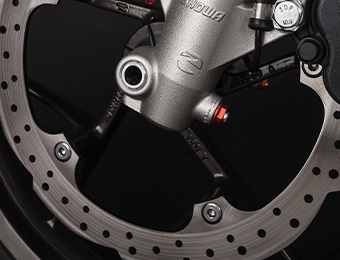 Ruote e sistema frenante per moto elettrica Zero S