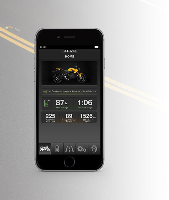Zero S Electric Motorcycle App